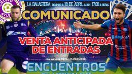 VENTA DE ENTRADAS PARA EL PARTIDO vs GIMNÁSTICA SEGOVIANA