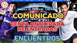 VENTA DE ENTRADAS PARA EL PARTIDO vs BURGOS CF PROMESAS (02/05/2021)